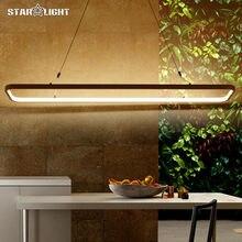 Новый современный подвеска led светильники для офиса столовая гостиная ресторан кухня освещения ac85-260v шнур висит кулон лампы