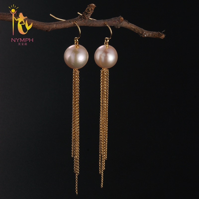 NYMPH Luxury Pearl Drop Earrings Fine Jewelry Long Tassel Fashion For Women Gift For Engagement Ceremony E322 линейка для спиц ice toolz 330мм 13 e322