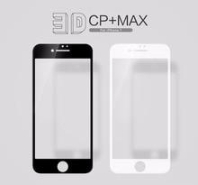 NILLKIN İnanılmaz 3D CP + MAX Tam Kapsama Nanometre Anti patlama 9 H Temperli Cam Ekran Koruyucu Için Apple iphone 7 4.7 inç