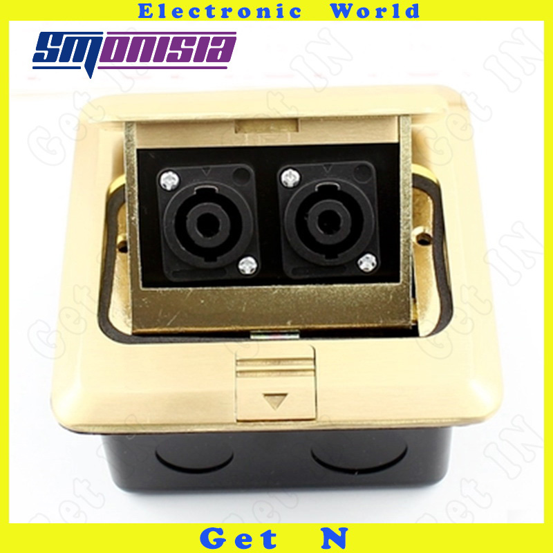 Smonisia 1pcs-10pcs Pop Up Female Floor Socket Waterproof Copper Core Microphone XLR Four Cores Professional Audio Ground Plug