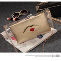 Lips Day Clutch Composite Fashion Evening Bags for Women Party Transparent Shoulder Crossbody Bag PVC Clear bolsa feminina Q100
