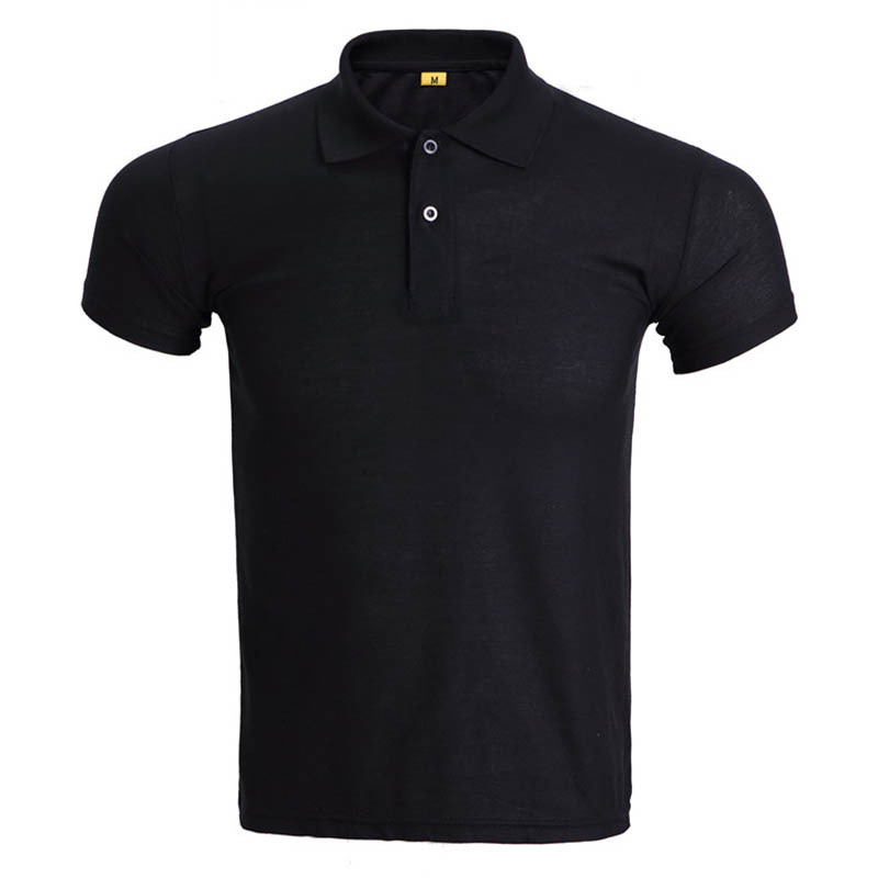black golf polo