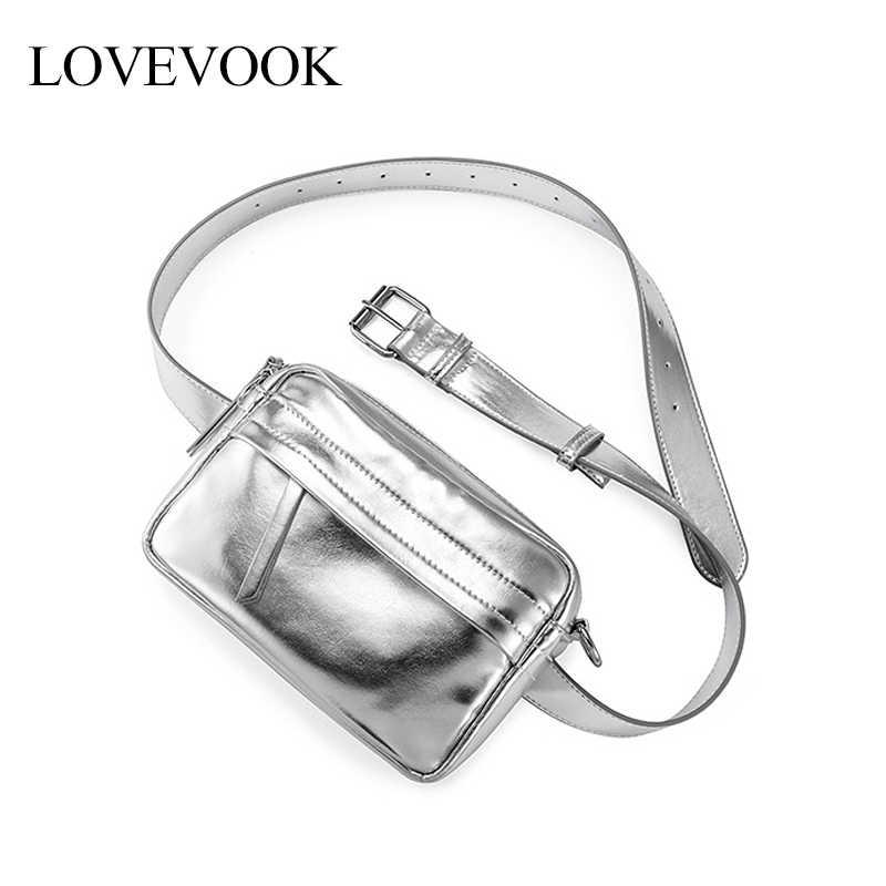 Lovevook 女性ベルトバッグスポーティファニーパック pu レザーウエストパッククロスボディのメッセンジャーバッグ 2019 ウエスト女性のための