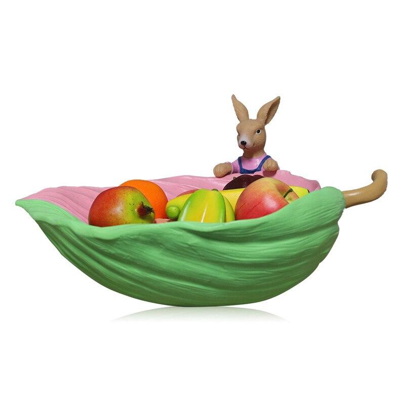 Nordic лист форма из смолы контейнер для закусок леденец еда хранения кролик коробка свадебные конфетные тарелки сушеные органайзер для фрукт