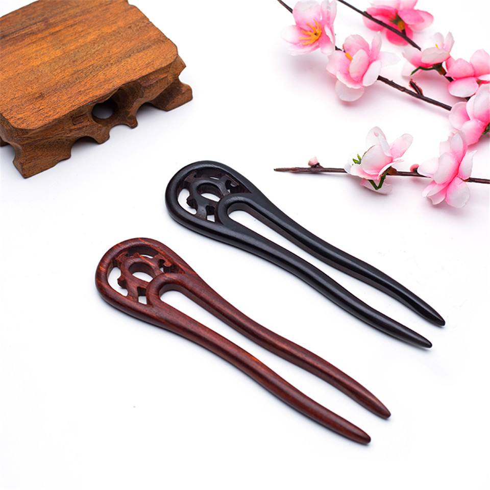 Carved Wood Hairpins 5