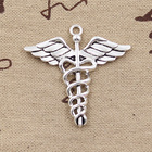 4pcs Charms Caduceus...
