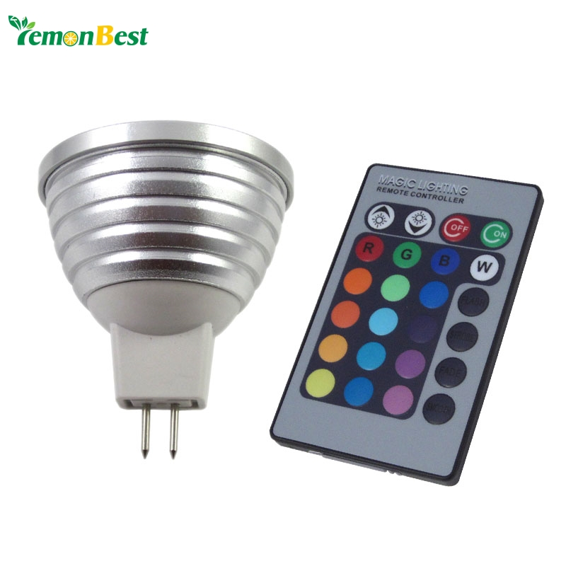3w 4w mr16 rgb led light 16 color changing bulb lamp downlight for holiday party decoration 5pcs. Black Bedroom Furniture Sets. Home Design Ideas