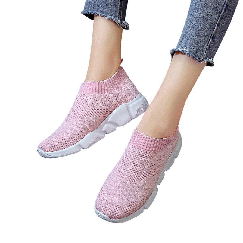 Luotuo Baskets Femmes Chaussures de Running Respirantes pour Femme Athl/étiques L/ég/ères Sport Filles Mode r/ésistent Respirant Les Chaussures Sport Confortables et Respirantes
