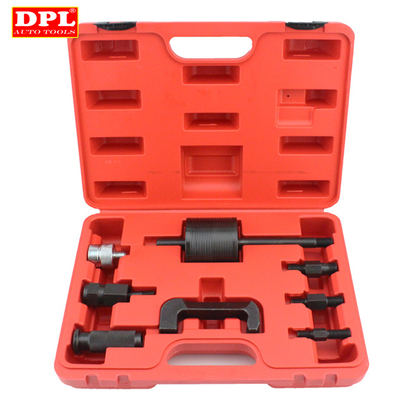 9 stücke Professionelle Master Diesel Injektor Extractor Set Mit Common Rail Slide <font><b>Hammer</b></font> Injection Puller CDI Tool Kit Set image