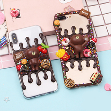 Simulated Cream Cases For Samsung Galaxy S6 S7 Edge S8 S8 Plus S9 S9 Plus Note 8 9 Phone Bags Fashion Mobile Shell Shipping Free