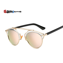 Samjune New Fashion Cat Eye Sunglasses Women Brand Designer Vintage Sun Glasses Men Woman UV400 Glasses Oculos De Sol Feminino