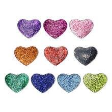10 sztuk 8mm Bling emalia serce Charms slajdów nadające się do obroża dla zwierząt bransoletki opaski kobiety tworzenia biżuterii SL670 świąteczne prezenty