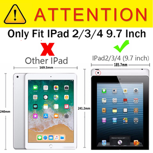Image 2 - For iPad 2 / 3 / 4 Shockproof Kids Protector Case For iPad2/3/4 Heavy Duty Silicone Hard Cover kickstand design Hand brace