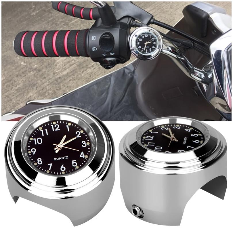 CARGOOL motocicleta impermeable luminosa moto reloj manillar Universal motocicleta relojes con almohadilla de goma llave