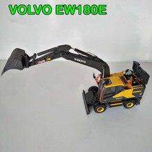 Коллекционная игрушка литья под давлением модель подарок Мотоспорт 1:50 весы VOLVO EW180E колесный экскаватор инженерное оборудование для украшения