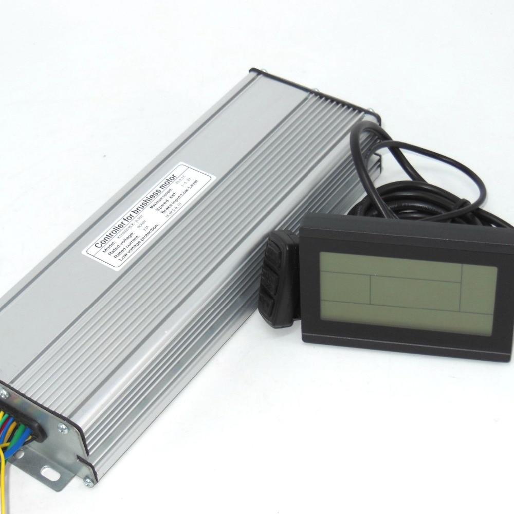 60V 1500-2000W 45Amax Brushless DC Motor Controller Ebike LCD3 KUNTENG Sine Wave  Controller +KT-LCD3 Display One Set