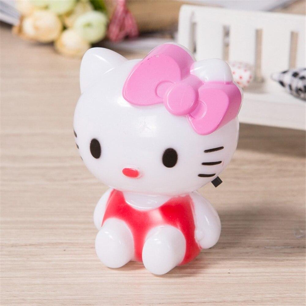 Светодиодный ночник рисунок «Hello Kitty» ночника ACC220V мультфильм с США Разъем для малыша детские, для малышей Спальня ночники Портативный лампы...