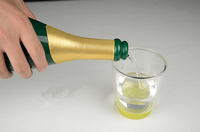 New Vanishing Champagne Bottle Green Black Available Magic Trick Accessories Stage Magic Props Close Up