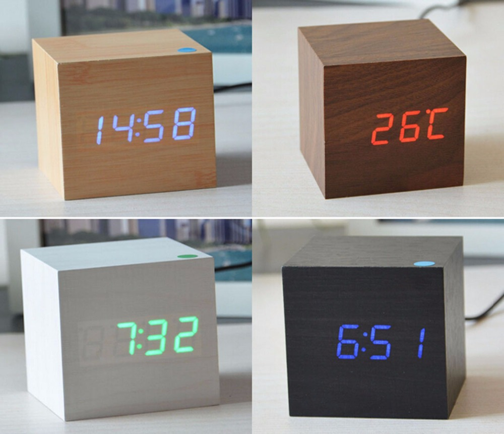 mid century desk clock slate and walnut by harpswell house att to  - modern bedside alarm desk clock luminous digital watch board  designer deskclock