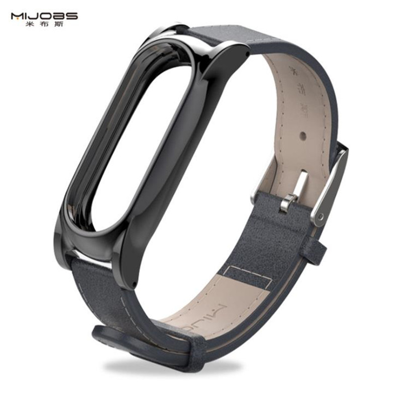 Mijobs mi band 2 PU leather strap Stylish simplicity Suitable for Xiaomi band 2 Xiaomi mi