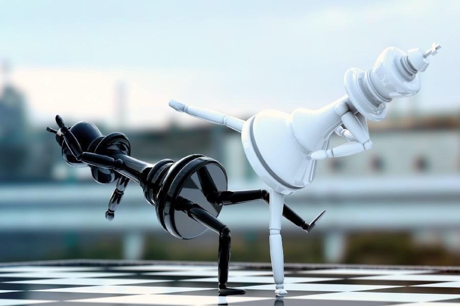 ヾ(^▽^)ノDIY frame Black And White Chess Pieces Fighting Board ...