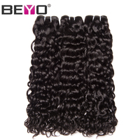 Beyo Water Wave Peruvian Hair Weave 1 Piece Non Remy Hair Natural Color 100 Human Hair