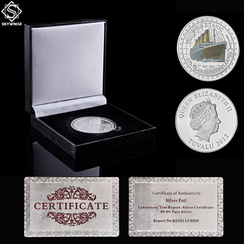1912 R.M.S Titanic Limited Edition 100 Year Anniversary Memory Victims Tragedy Titanic Souvenir Silver Coin W/ Box Display