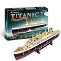 3D Puzzles QI Puzzles Adultos Titanic Navio DIY Paper Modelo Crianças Criativas Presentes Crianças Brinquedos Educativos Modelo de Papelão 35 PCS