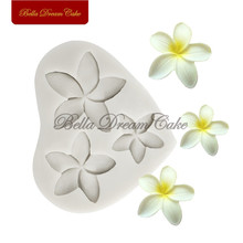 Plumeria Flower Silicone Mold Sugarcraft Cake Mould DIY Fondant Cake Moulds Cake Decorating Tool Kitchen Accessories Bakeware italian onion diy silicone mold fondant cake sugarcraft baking decorating cake dessert fondant cupcake tool kitchen accessories