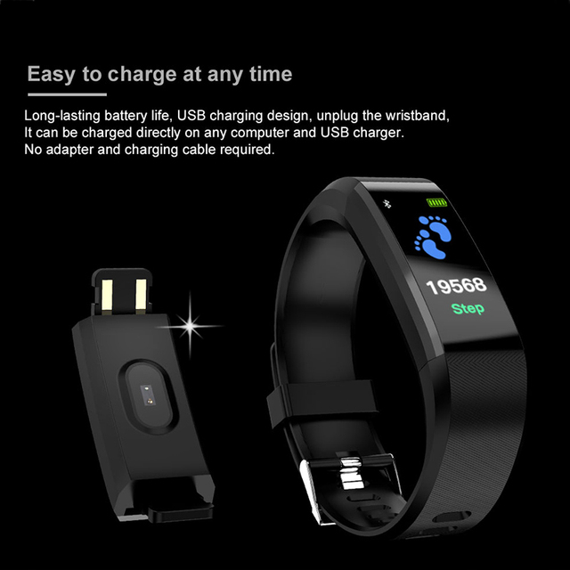 Smart Watch Men or Women Smart watch Sport Fitness tracker Pedometer Heart Rate Blood Pressure Watches LED Smart watch BINSSAW
