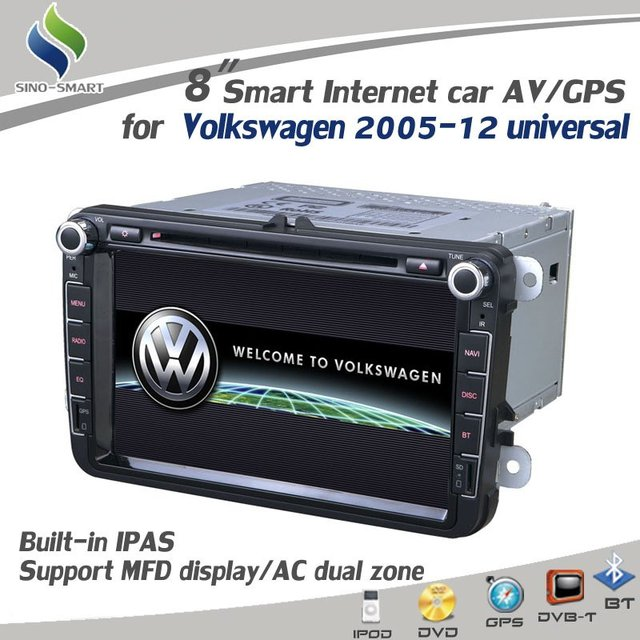 "For Volkswagen Passat CC Golf6 GTI New Magotan Sagitar New Bora Tiguan 8"" GPS DVD Radio BT PIP MFD RDS Steering wheel control"
