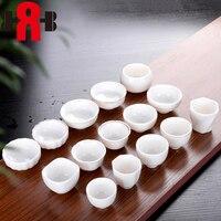 Chinese white porcelain Tea Cups Porcelain Teacup Set Leaf Teapot Drinkware Oolong Tea Ceramic China Kung Fu Tea Sets