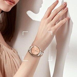 Image 5 - Cerâmica + pulseira de aço inoxidável para garmin vivomove hr 3 3 s/vivoactive 4 4S/venu luxe estilo liberação rápida pulseira relógio