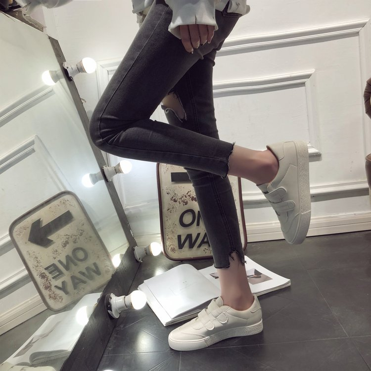 Cuir Casual Breathble Chaussures Lacent Femmes Sneakers Pu Beige 2019 blanc Mode Plate En forme Blanc HpHqxFzP