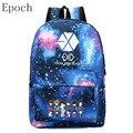 Epoch EXO Moda Unissex Mochilas Espaço Estrela Galáxia Universo Escola Mulheres Mochila de Viagem Sacos Mochilas Saco Cartable Sac Um Dos