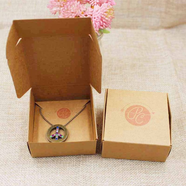 656530mm custom logo necklace card jewelry box personalized logo