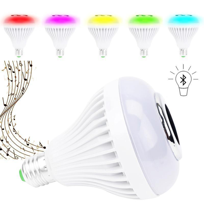 Oobest E26 Smart Lighting Bulb Dimmable 12W Wireless Bluetooth Speaker Christmas Bulb Music Playing LED Light Lamp szyoumy e27 rgbw led light bulb bluetooth speaker 4 0 smart lighting lamp for home decoration lampada led music playing