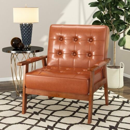 PU Leather Tufted Chair 2