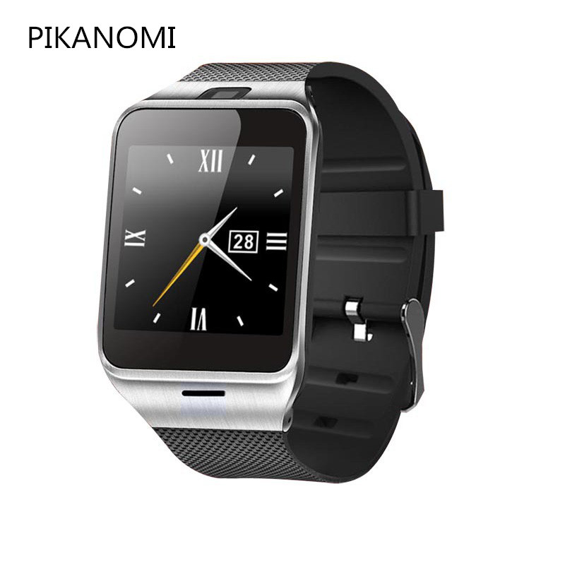 44ec5c8b46d 2018 fashion bluetooth wrist watch GV18 GSM NFC SMS sync MP3 MP4 smartwatch  TF card passometer