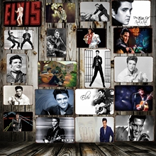[WellCraft] Elvis Presley Metallskyltar Home Hotel Klassisk väggaffisch Plaque Iron Painting Bar Shop Store Decor 20 * 30 CM FG-202