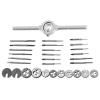 31pcs Mini HSS Tap & Die Set with Small Tap Twisted Hand Screw Thread Plugs Hand Screw Taps