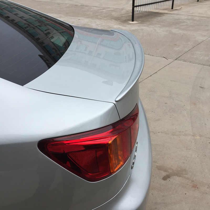 Для Lexus IS250 спойлер 2006-2012 Lexus IS300 IS350 тык надрезаемая подкладка, ABS пластик Материал заднего крыла Цвет задний спойлер