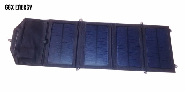 GGX ENERGY Waterproof 7.2W 5V Portable Folding Mono Solar Panel Charger USB Output Controller Pack for Phones iPhone PSP MP4