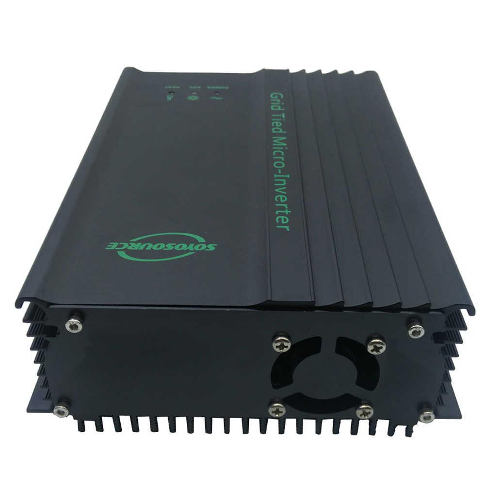 Micro inversor grid tie 600w, inversor para 24v 36v 48v 60v 72v 96v bateria inversor de rede de onda senoidal, ajustável, potência mppt