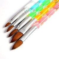 MISMXC 5pcs Acrylic Nail Art UV Gel Carving Pen Brush Liquid Powder DIY No. 4/6/8/10/12