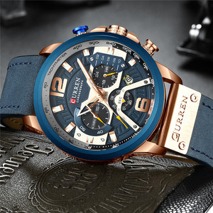Image 2 - CURREN แบรนด์หรูผู้ชายกีฬาทหารนาฬิกาผู้ชายนาฬิกาควอตซ์นาฬิกาหนังกันน้ำวันที่นาฬิกาข้อมือ relogio masculino 8329
