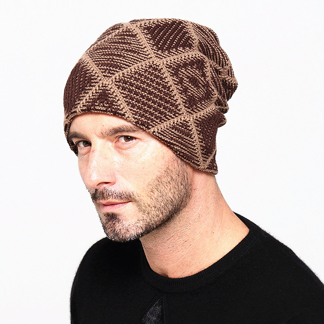 Winter Hats For Men Knit Knitting Hats Fashion Cool Keeping Warm Male Hats  Thickening Hedging Caps Men ab4ee7457f2