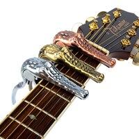Metalu Capo Clamp Dla Alicja Gitara Elektryczna i Akustyczna A007G Krokodyla