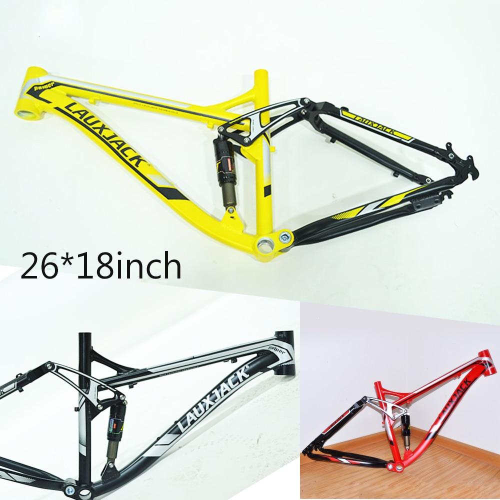 High quality 18 inch aluminum alloy 26 er down hill suspension rear shock bicycle frame соморкaнский бульвaр 18 26