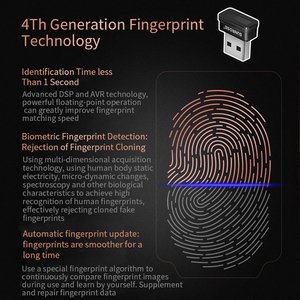 Image 3 - Home Mini Capturing PC Fingerprint Scanner Laptop Security Key Computer USB Interface Reader Sensor Office For Windows 10